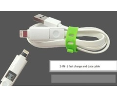 2-In-1 Apple Iphone/ Android charge & Data cable