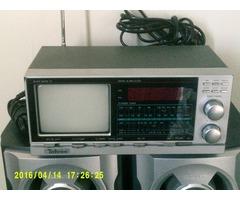 Technica 4.5'' Black/White AM/FM Clock Radio.