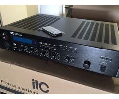 120 watt Mixer PA Amplifier, 4 Mic, 4 Aux, Tuner/SD T 120sp