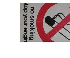 """NO SMOKING""  sign"