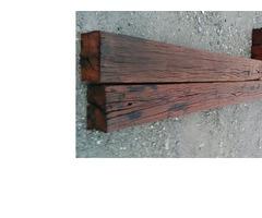Hardwood bridge beams