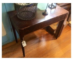 Antique Side Table - Beautiful Lathed Legs