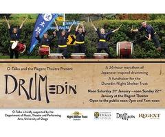 DRUMedin - a fundraiser for the Dunedin Night Shelter Trust