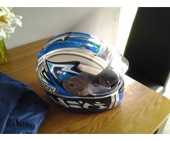 Mans motorbike helmet