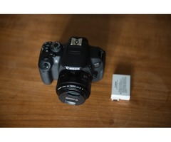 Quick sale: Canon 550D with Bonus Battery and 50mm 1.8 lens