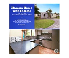 INVEST HERE: Hawera Home - 4 bedrooms + Granny Flat = Positive Gearing Income