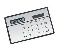 Caculator, Solar, Credit Card Shape & Size