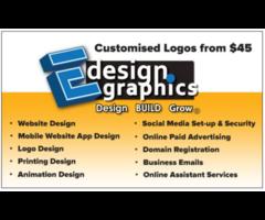Customised Business Website Built & Designed for 10/mth incls secure hosting and CMS